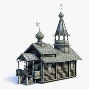 러시아 마을 교회 02 3d model