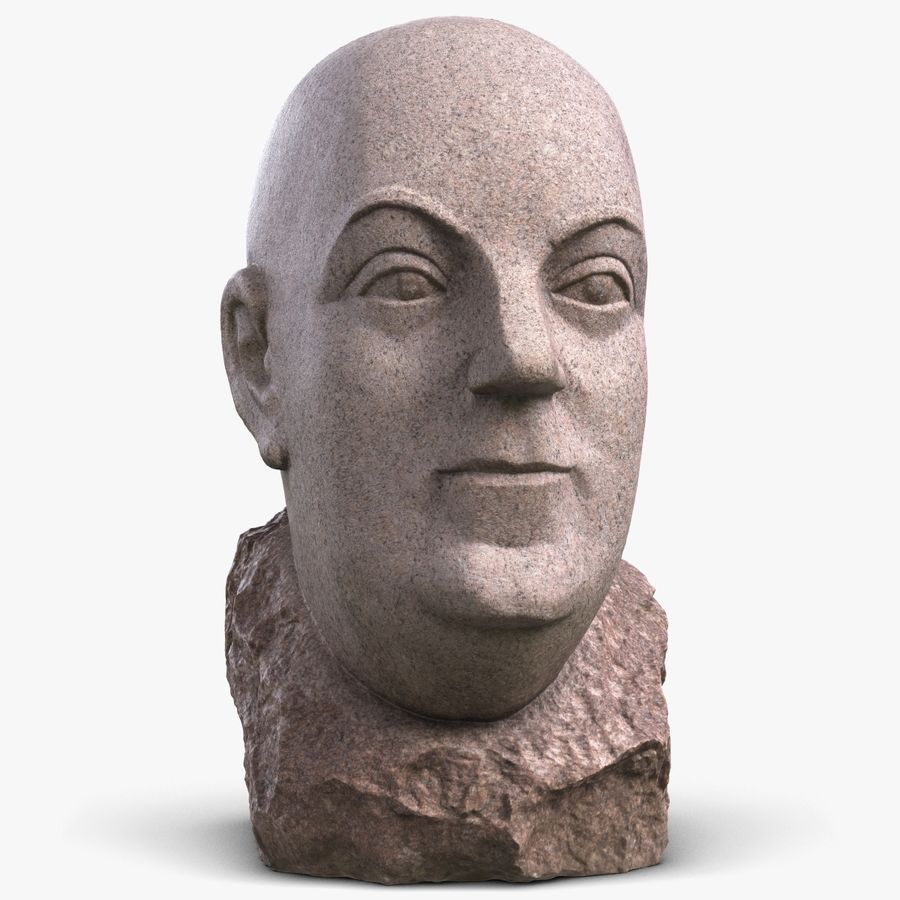 Skinny Head Bust royalty-free 3d model - Preview no. 1