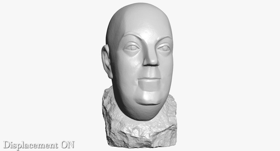 Skinny Head Bust royalty-free 3d model - Preview no. 13