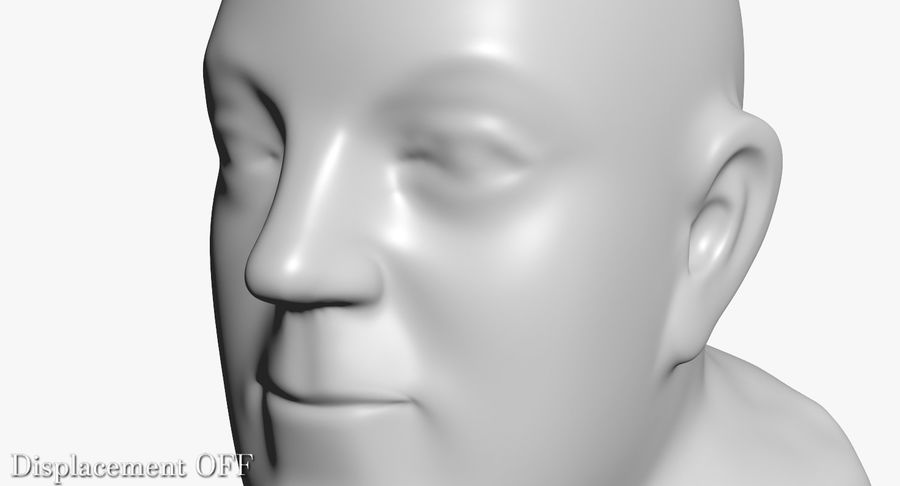 Skinny Head Bust royalty-free 3d model - Preview no. 28