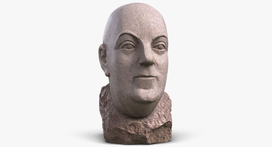 Skinny Head Bust royalty-free 3d model - Preview no. 2
