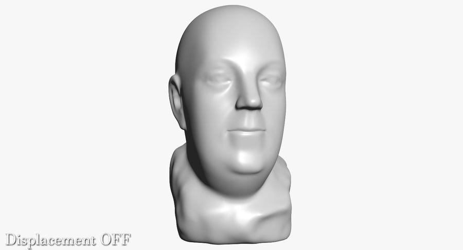 Skinny Head Bust royalty-free 3d model - Preview no. 12