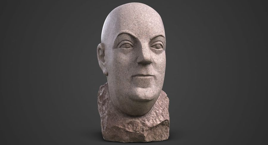 Skinny Head Bust royalty-free 3d model - Preview no. 3