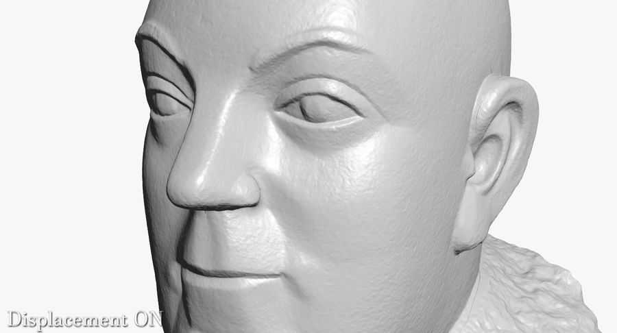 Skinny Head Bust royalty-free 3d model - Preview no. 29