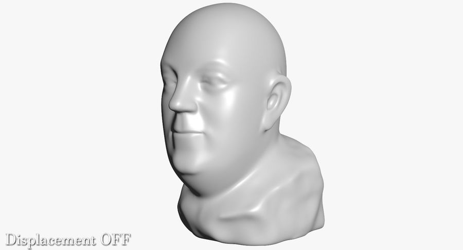 Skinny Head Bust royalty-free 3d model - Preview no. 16
