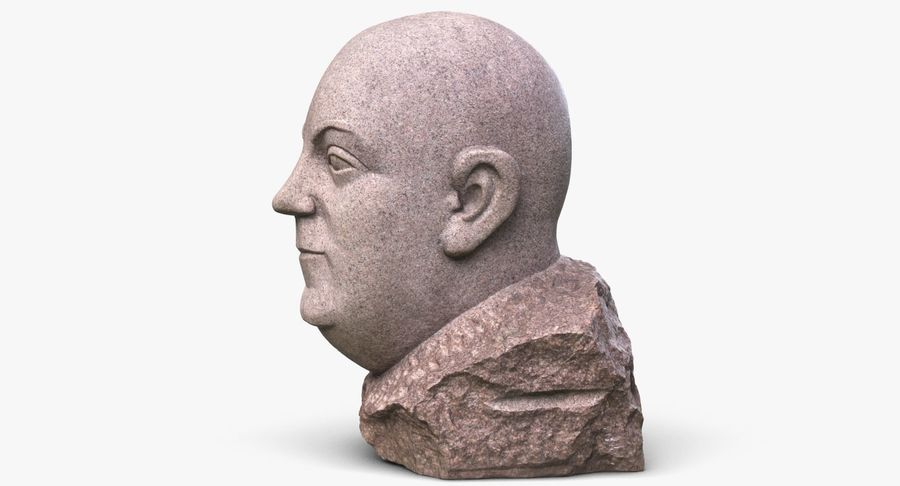 Skinny Head Bust royalty-free 3d model - Preview no. 5