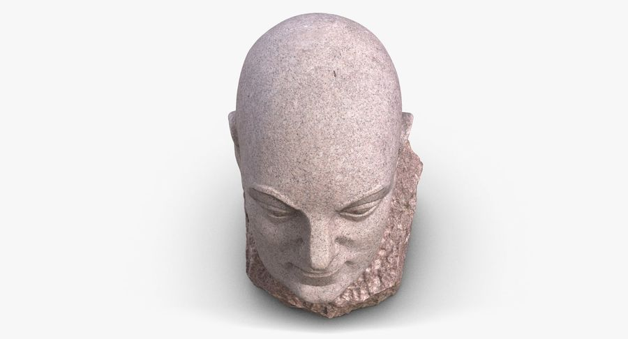 Skinny Head Bust royalty-free 3d model - Preview no. 9