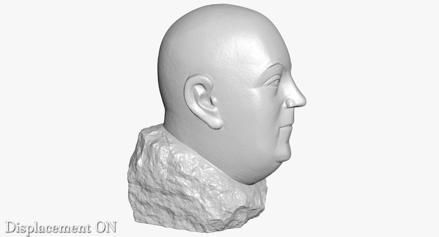 Skinny Head Bust royalty-free 3d model - Preview no. 25