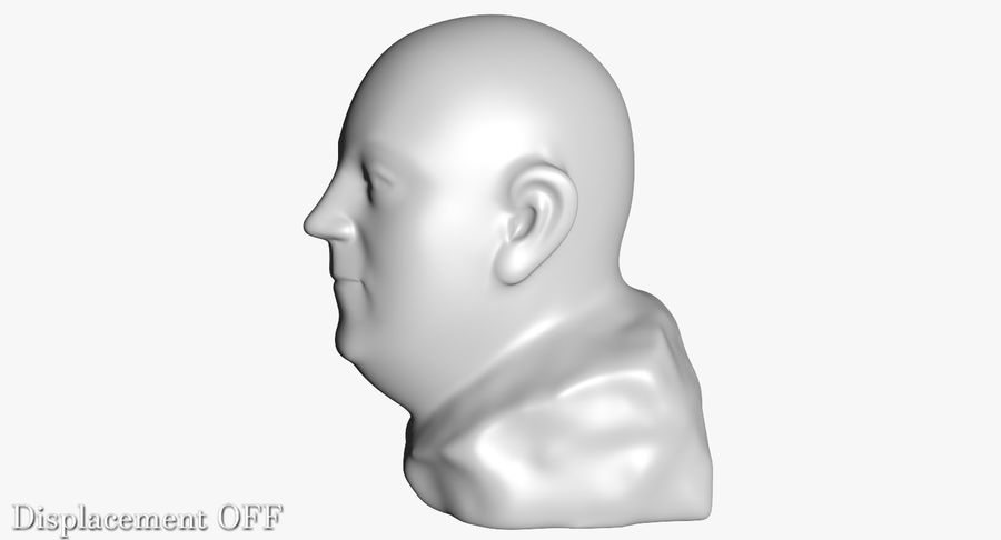 Skinny Head Bust royalty-free 3d model - Preview no. 20