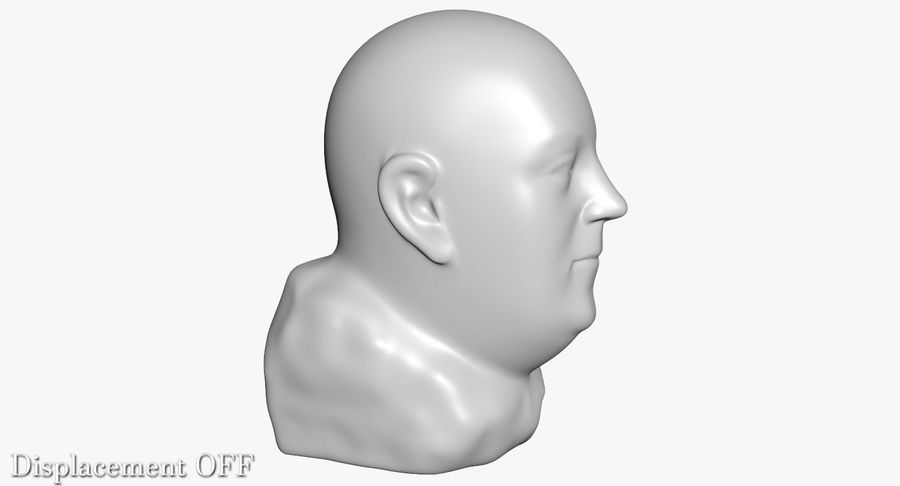 Skinny Head Bust royalty-free 3d model - Preview no. 24