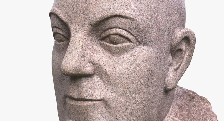 Skinny Head Bust royalty-free 3d model - Preview no. 6