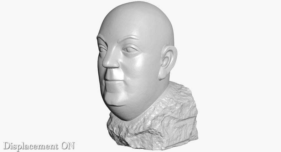 Skinny Head Bust royalty-free 3d model - Preview no. 17