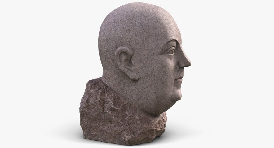 Skinny Head Bust royalty-free 3d model - Preview no. 8