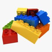 Lego Bricks 2 (Pose 1) 3d model