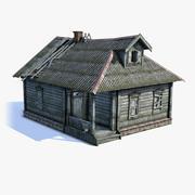 Rosyjski wiejski dom 02 3d model