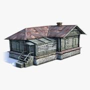 Russisch dorpshuis 03 3d model
