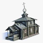 러시아 마을 교회 03 3d model