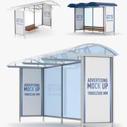 Bus stops 3d model