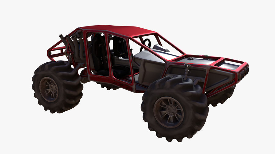 Off-road racer royalty-free 3d model - Preview no. 6