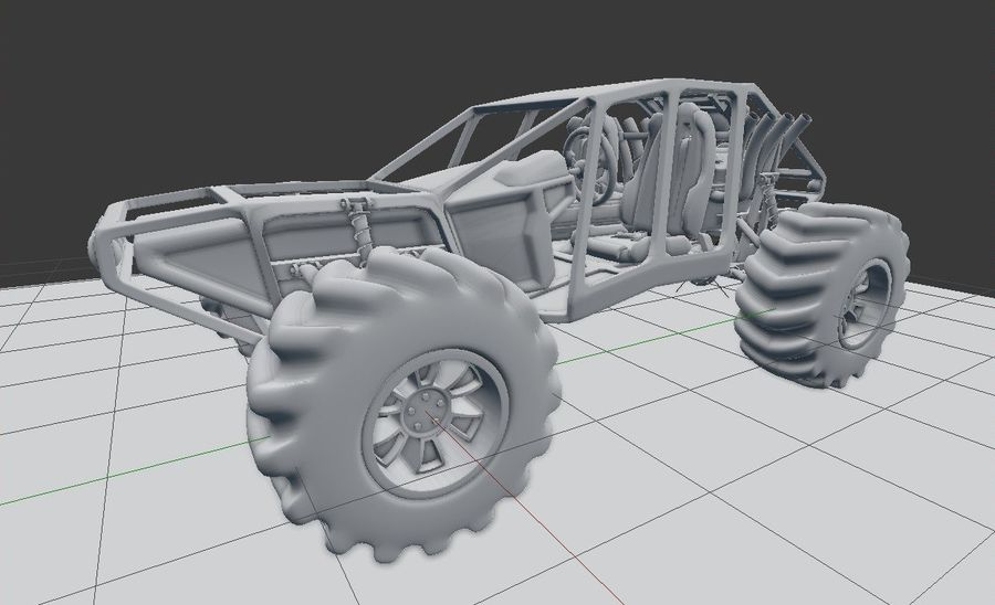 Off-road racer royalty-free 3d model - Preview no. 20