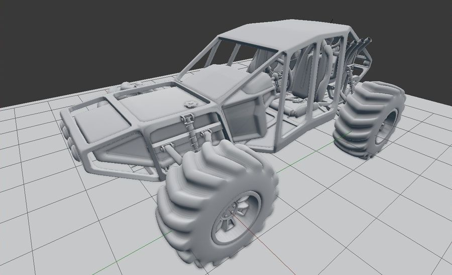 Off-road racer royalty-free 3d model - Preview no. 15