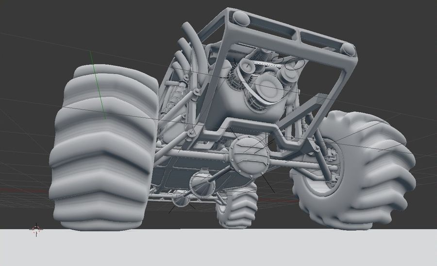 Off-road racer royalty-free 3d model - Preview no. 11