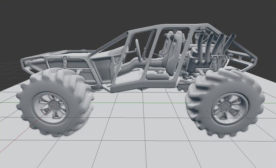 Off-road racer royalty-free 3d model - Preview no. 10