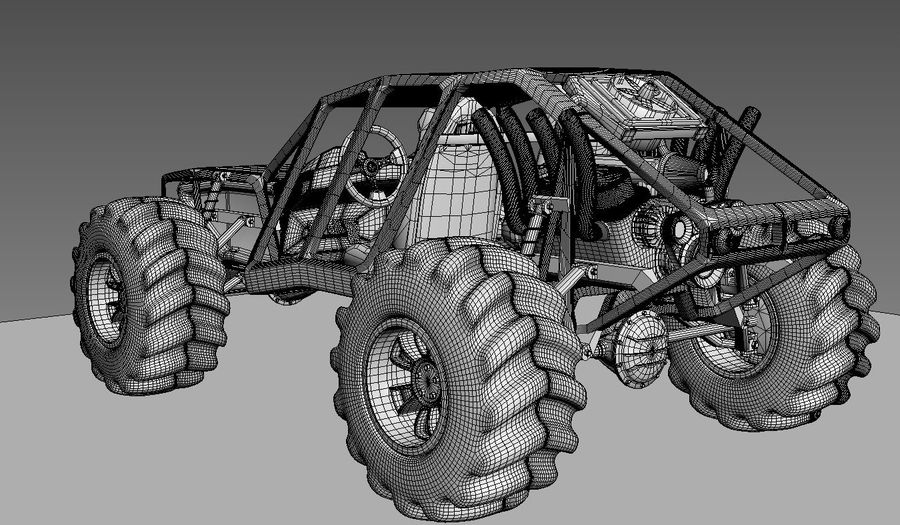 Off-road racer royalty-free 3d model - Preview no. 23