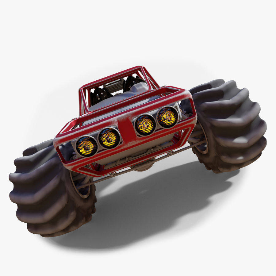 Off-road racer royalty-free 3d model - Preview no. 2