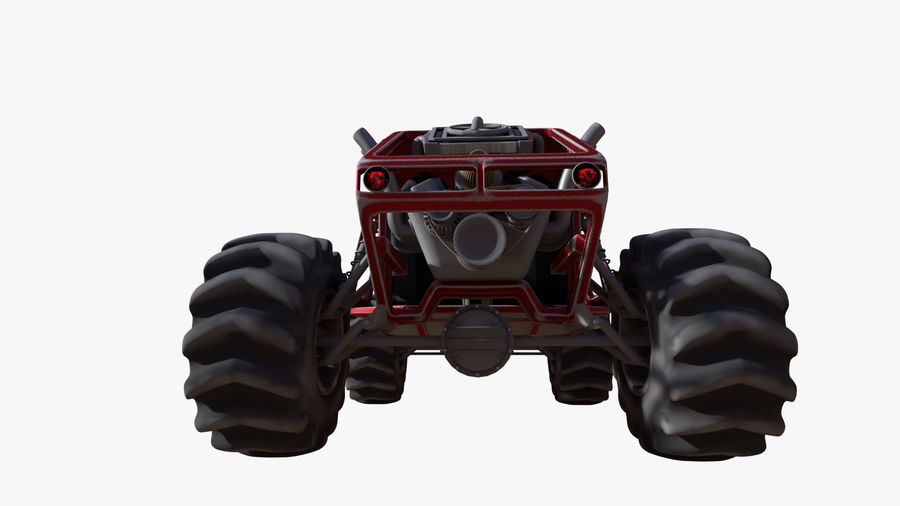 Off-road racer royalty-free 3d model - Preview no. 8