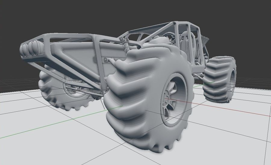 Off-road racer royalty-free 3d model - Preview no. 19