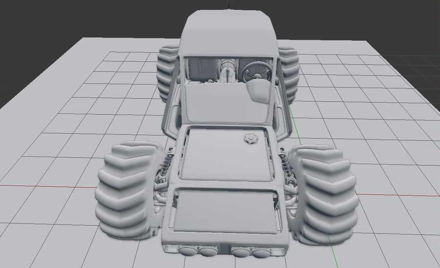 Off-road racer royalty-free 3d model - Preview no. 18