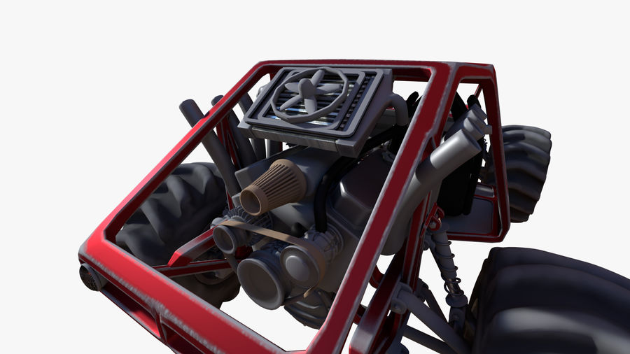 Off-road racer royalty-free 3d model - Preview no. 7