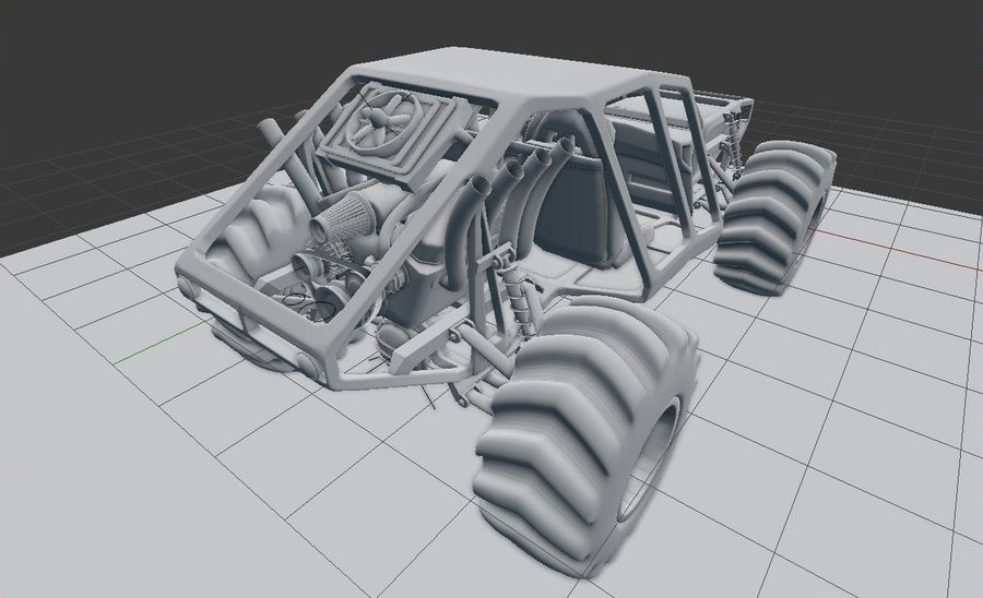 Off-road racer royalty-free 3d model - Preview no. 12