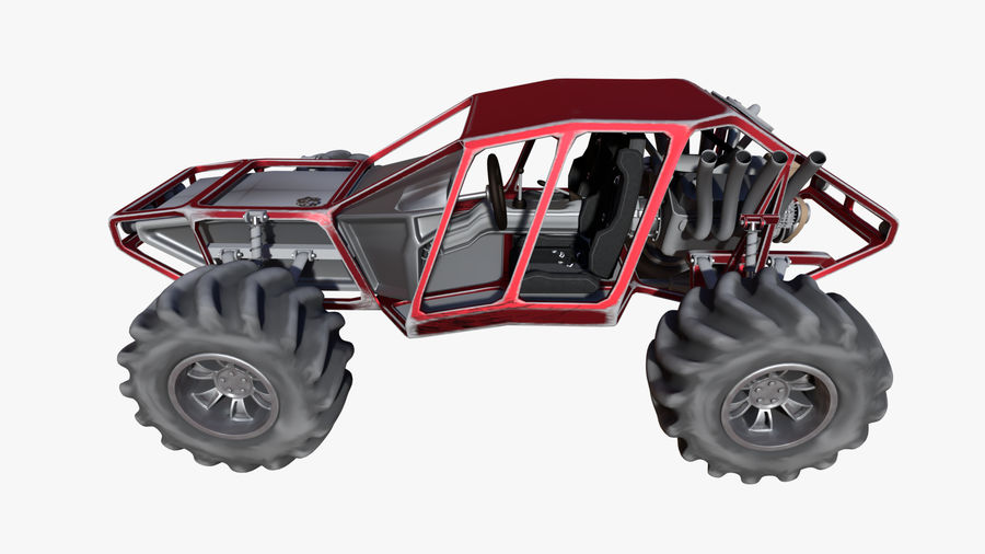 Off-road racer royalty-free 3d model - Preview no. 4