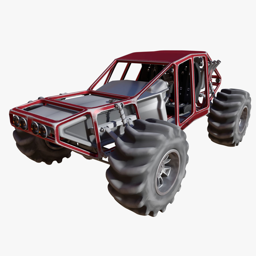 Off-road racer royalty-free 3d model - Preview no. 27