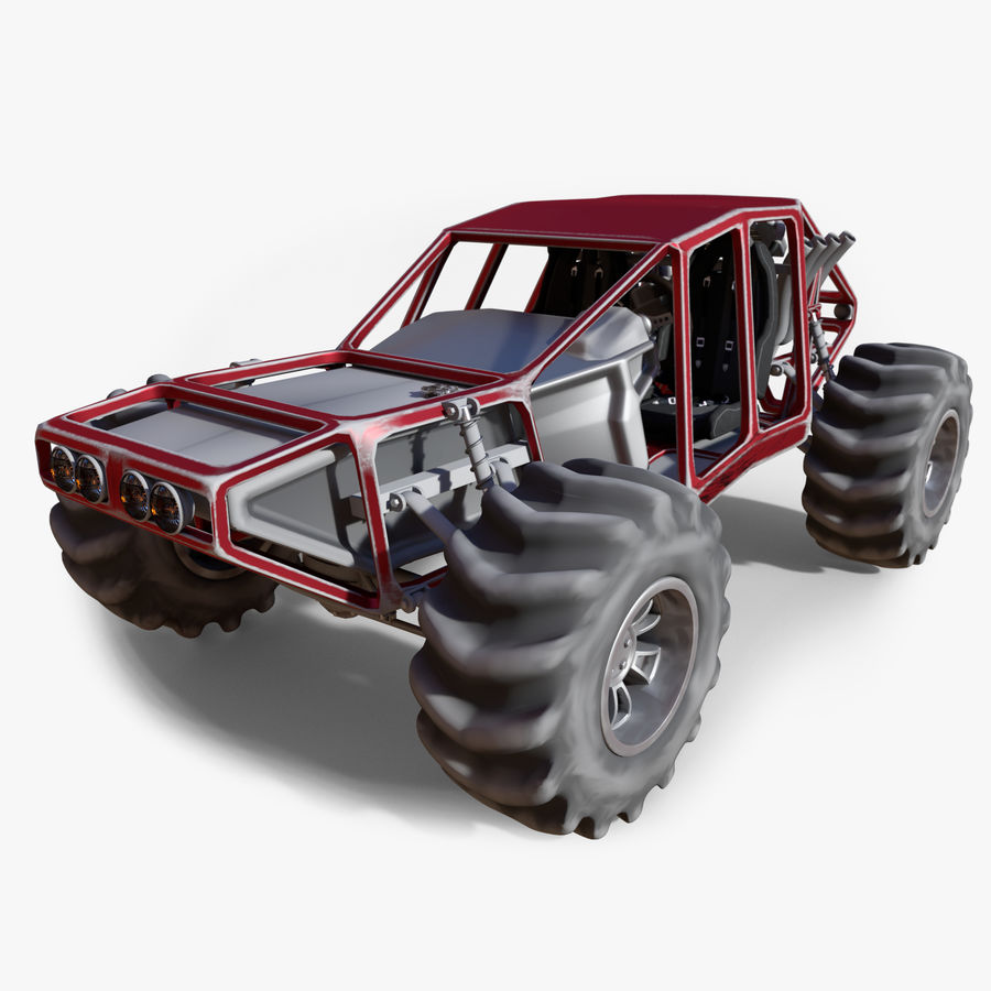 Off-road racer royalty-free 3d model - Preview no. 1