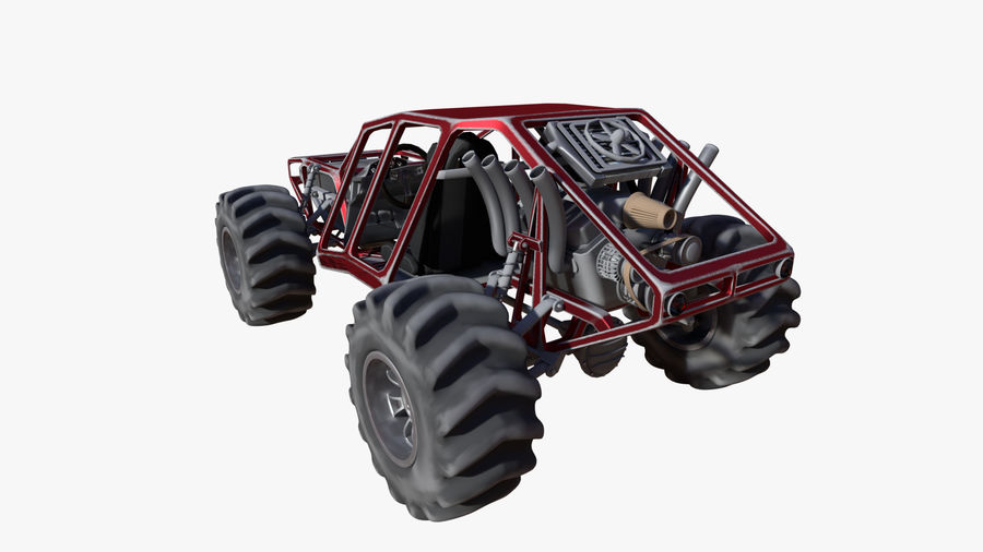 Off-road racer royalty-free 3d model - Preview no. 3