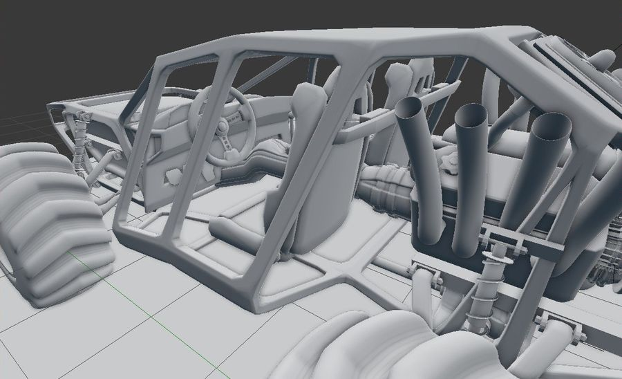 Off-road racer royalty-free 3d model - Preview no. 16