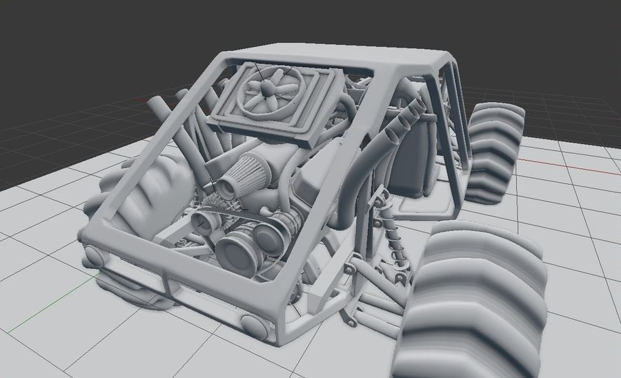 Off-road racer royalty-free 3d model - Preview no. 13