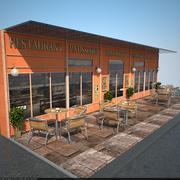 Restoran cephesi 3d model
