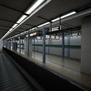 지하철 역 플랫폼 3d model