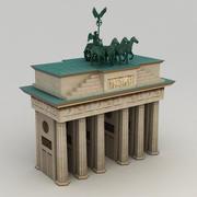 Brandenburg gate lowpoly 3d model