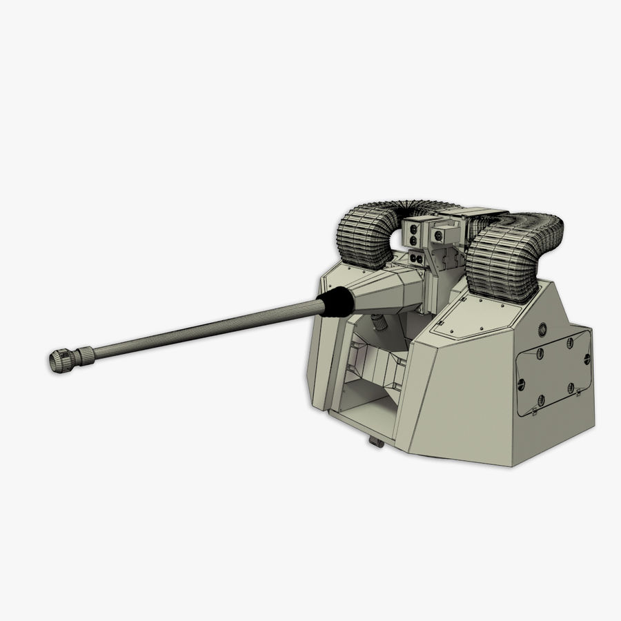 30MM Marlin WS snel marinegeweer royalty-free 3d model - Preview no. 19
