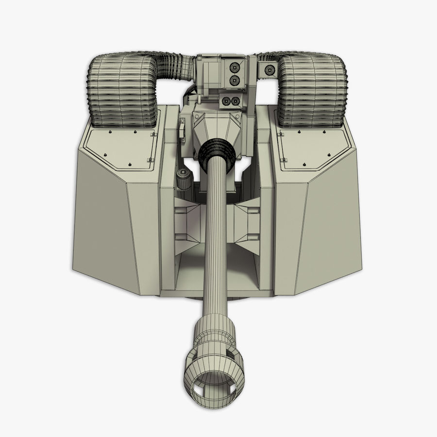 30MM Marlin WS snel marinegeweer royalty-free 3d model - Preview no. 22
