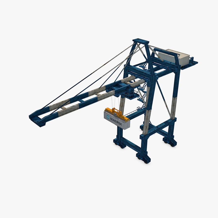 Port Container Crane royalty-free 3d model - Preview no. 1