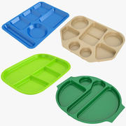 Lunch Food Tray Collection 01 3d model