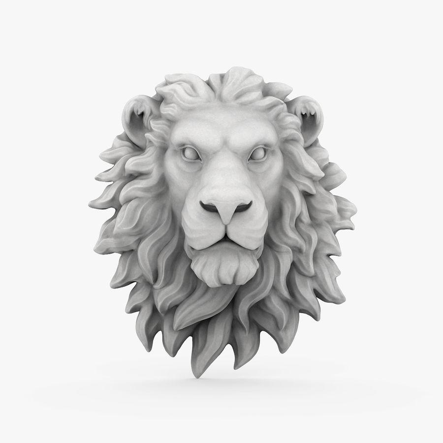 lion head sculpture 01 royalty-free 3d model - Preview no. 1