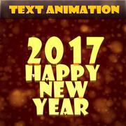 Gelukkig Nieuwjaar tekstanimatie 3d model