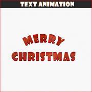 圣诞快乐文本动画 3d model